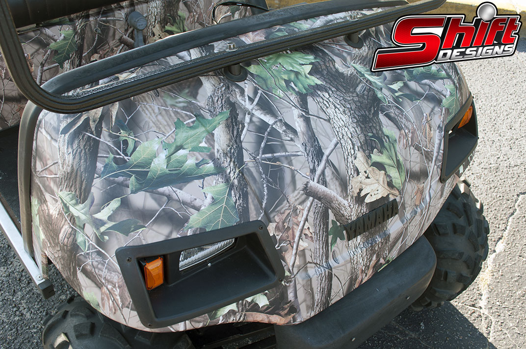Golf Cart Camo Wrap Shift Designs