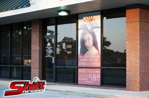 Club Sun Tanning Salon Window Perf Shift Designs