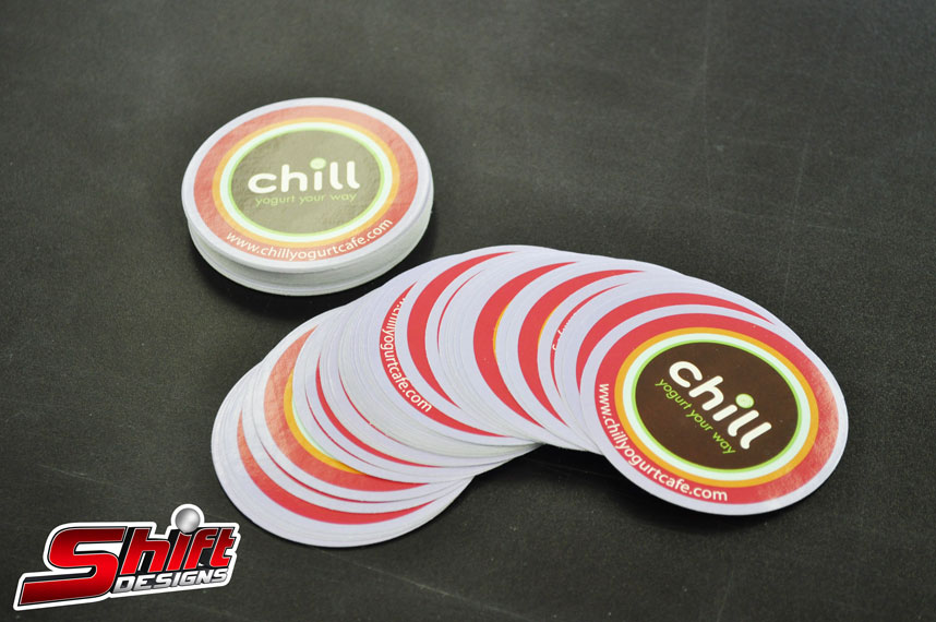 Chill promo sticker