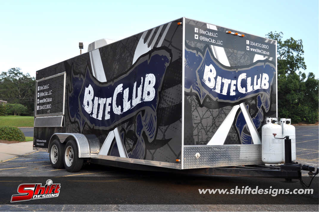 Biteclub Food Truck Trailer Wrap Shift Designs