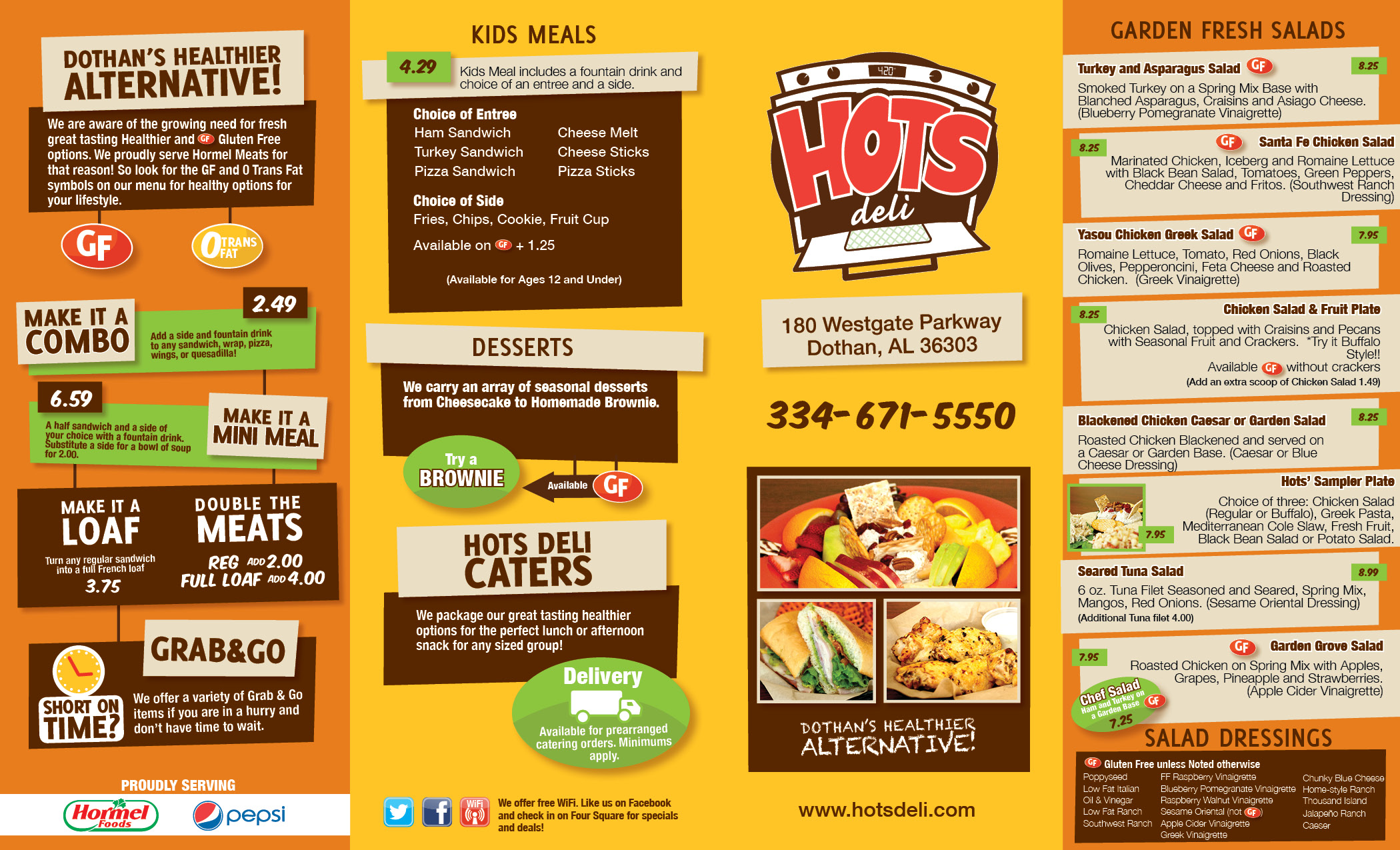 Hots Deli To Go Menu Archives Shift Designs