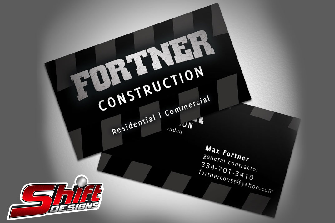 Fortner Construction Business Cards | Shift Designs